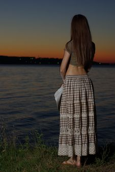 Free Female Standing In The Twilight Stock Photos - 20752063