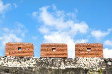 The Ancient City Walls Stock Photo