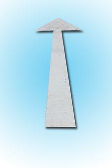 Free Single Arrow On Blue Gradient Stock Photography - 20753112