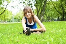 Free Yoga Woman On Green Grass Stock Photo - 20753410
