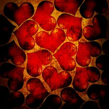 Free Red Hearts On A Grunge Stock Image - 20754041