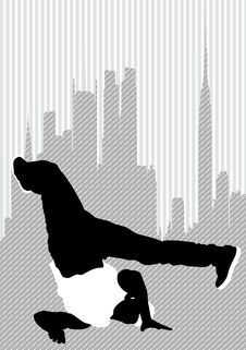 Free Dancer On City Stock Images - 20754354