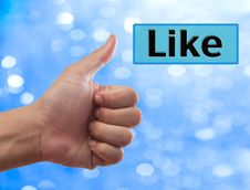 Free Thumb Up To Like Button Stock Images - 20754404