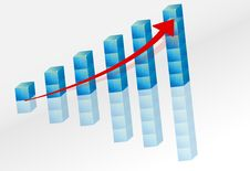 Free 3d Graph With Arrow Stock Images - 20754514