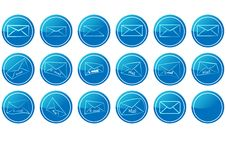 Free Envelope Icons Royalty Free Stock Photography - 20754597