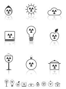 Free Radiation Icons Set. Stock Photography - 20754832
