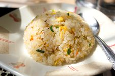 Round Chinese Fried Rice Stock Images