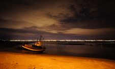 Free Boat At Night Stock Photography - 20755432