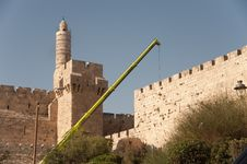 Free Construction Crane At Jerusalem Old City Stock Photo - 20756370