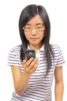 Free Chinese Woman Talking In Mobile Phone Stock Images - 20756374