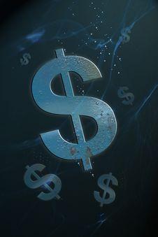 Free Sinking Dollar Royalty Free Stock Images - 20756419