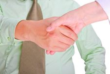 Asian Business People Shaking Hands Royalty Free Stock Photo