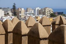 Free View Over Battlements At Almeria Royalty Free Stock Image - 20756506