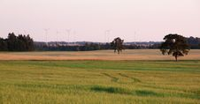 Free Rural Landscape With Wind Turbines Royalty Free Stock Photos - 20756648