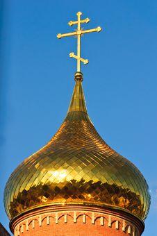 The Church Against The Blue Sky Stock Photos