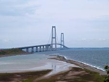 Free Suspension Bridge Denmark Stock Photography - 20756722