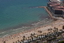 Free Postiguet Beach In Alicante Royalty Free Stock Photography - 20757007