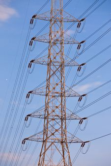 Free Electricity Supply Pylons In Countryside Stock Image - 20757071