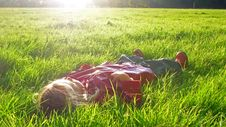 Free Lay Down In Grass Stock Images - 20757194