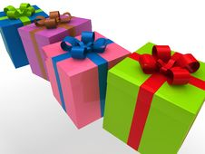 Free 3d Gift Box Stock Photography - 20758502