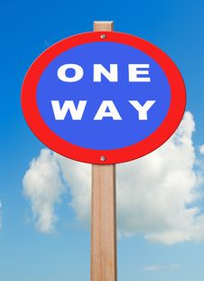 Free One Way. Royalty Free Stock Images - 20759699