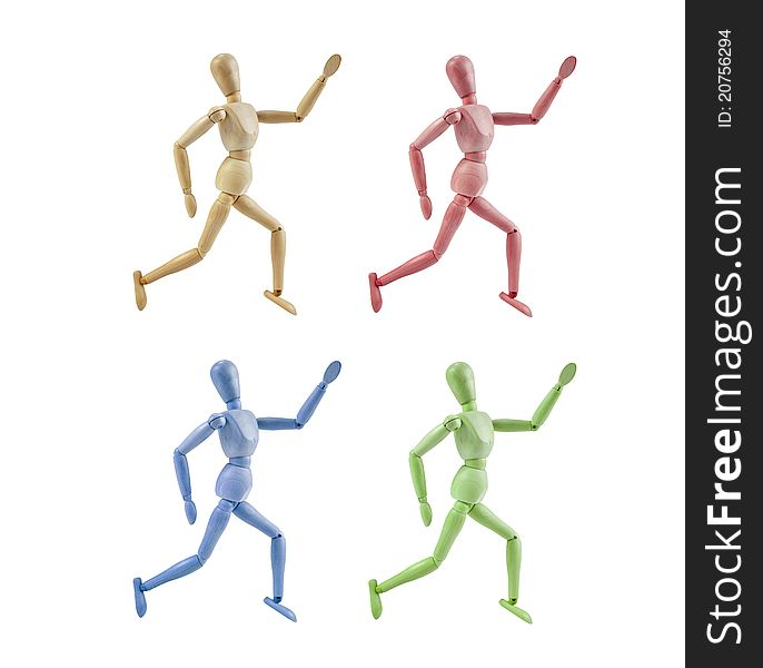 Collection of Artist Mannequin in various colors r