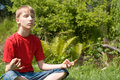 Free Young Boy Meditation Stock Image - 20762411