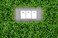 Free Switch Button In Grass Stock Photo - 20764590
