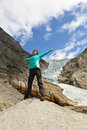 Free Sport Girl In Norway Maountains Stock Photography - 20766982