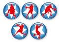 Free Basketball Badges Royalty Free Stock Photos - 20767878