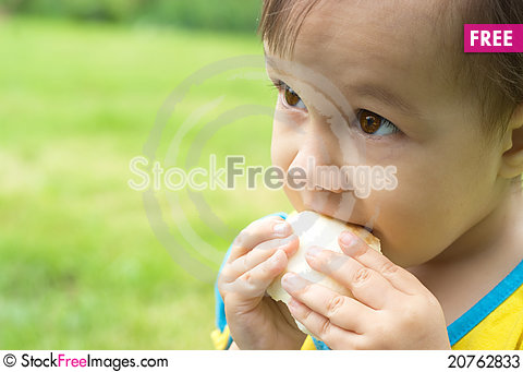 Free Little Girl Eating Stock Photos - 20762833