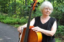 Cello Music Teacher. Royalty Free Stock Photo