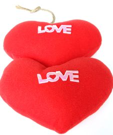 Free Two Red Heart Love. Stock Image - 20761111
