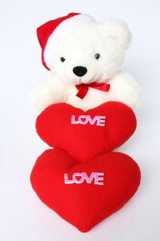 White Teddy Bear. Royalty Free Stock Photo
