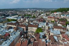 Free A Bird S-eye View Of Lvov Royalty Free Stock Photography - 20761237