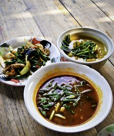 Free Variety Of Organic Thai Cuisine Stock Image - 20761251