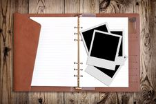 Free Blank Photo And Notebook Royalty Free Stock Photo - 20761565