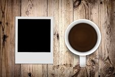 Free Blank Photo And Coffee Royalty Free Stock Photography - 20761707