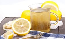 Free Glass With Hot Lemon Tea Royalty Free Stock Photography - 20761997