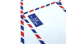 Free Two Air Mail Envelope Royalty Free Stock Photos - 20762068