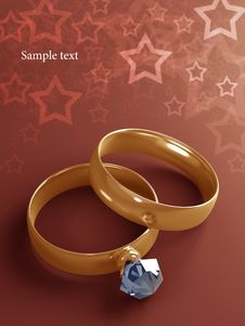 Free Gold Wedding Rings Stock Photography - 20762082
