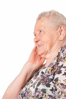Free Old Woman Portrait Royalty Free Stock Photo - 20762275