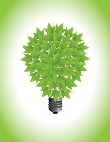 Free Ecological Light Bulb Royalty Free Stock Image - 20762356