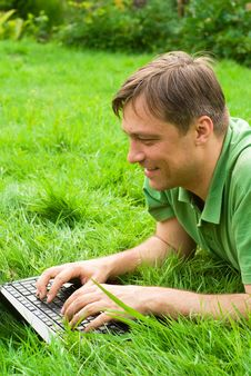 Free Man With Laptop Stock Photo - 20762460