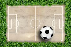 Soccer Field Pattern And Football Stock Images