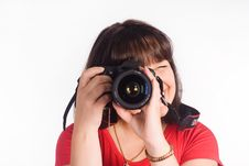 Free Girl With Camera Stock Photo - 20762590