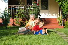 Free Grandsons With Grandparents Playing Stock Photography - 20762802
