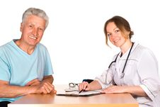 Nurse And Patient Royalty Free Stock Images