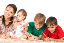 Free Family Of A Four On Carpet Stock Images - 20762884