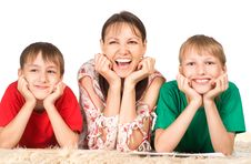 Free Mom With Sons Royalty Free Stock Photos - 20762888